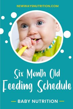 Example 6 Month Old Feeding Schedule   New Ways Nutrition via @nwnutrition Eating Schedule, Baby Schedule, Infant Sensory Activities, Baby Sensory, Six Month, 6 Month Olds, Toddler Nutrition, Nutrition Tips, Weaning Foods