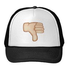 5d5a8540baa Thumbs Down Sign Emoji Hat Emoji Design