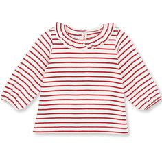 Striped frill baby top