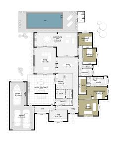 The spacious Inspiration 4 home plans include 4 bedrooms, open plan dining and raised living areas, 3 car garage, optional outdoor living area & verandah. Sims House Plans, Best House Plans, Dream House Plans, House Floor Plans, Home Layout Plans, Home Design Floor Plans, Building Map, Building A House, Split Level Floor Plans
