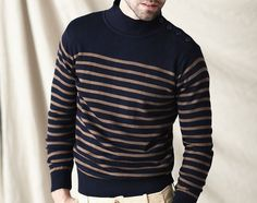 I'm so into nautical stuff right now!    Armor Lux Wool Breton Stripe Sweater
