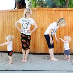 DIY reversible skirts for you and your little gal!