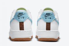 2021 Nike AF1 Air Force 1 '07 Low Indigo Fashion Shoes CZ0338-100-1 Air Force 1, Nike Air Force, Black Color Combination, Indigo Shoes, Nike Af1, Blue Tones, Aqua Blue, White Leather, Fashion Shoes