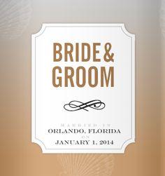 Wedding Koozie Design Ideas - Personal koozies for wedding drink are a greate wedding favor idea.