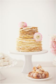 simple and pretty, we bet this stack of crepes is delicious too