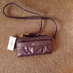 Juicy Couture zip around wallet NWT metallic grape, can be used as a wallet or also a cross body bag Juicy Couture Bags Crossbody Bags