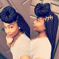 These box braids are so clean Gorgeous hair by @laidbylandyy_ on @msdanti ❤️ #browardhairstylist #boxbraids #bunlife #voiceofhair ========================== Go to VoiceOfHair.com ========================= Find hairstyles and hair tips! =========================