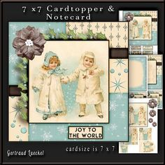 Cardtopper Joy to the world 670 on Craftsuprint - View Now!