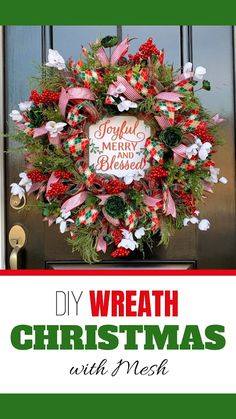 Julie from Southern Charm Wreaths is teaching thousands the art of wreath making and to make extra money selling their creations. In this video, learn to make a deco mesh Christmas wreath for your door. Click the title of this pin to watch the detailed tutorial on our blog. #xmaswreath #christmasdiy