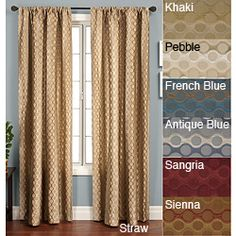 @Overstock - Add a splash of decor to your home and windows with this 84-inch long rod pocket curtain panel featuring a circular geometric design. Offered in multiple colors, this window panel will add an interesting design detail to windows.http://www.overstock.com/Home-Garden/Duchess-Circles-Rod-Pocket-84-inch-Panel/3319925/product.html?CID=214117 $53.99