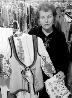 Eleni Chakalos, the founder of The Hellenic Dancers of New Jersey, with a traditional Greek folk costume from the town of Arachova in Central Greece. This costume, along with the group's entire costume wardrobe, was handmade by Eleni Chakalos. Greek Costumes, Greeks, Folk Costume, Dancers, Aunt, Over The Years, Traditional, Group, Handmade