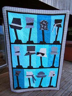 Hatteteppe laget etter mønster fra Jan Mullen. Projects To Try, Bee, Quilts, Blanket, Paper, Crafts, Inspiration, Design, Dress