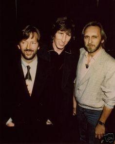 Roger Waters, Eric Clapton & John Entwistle