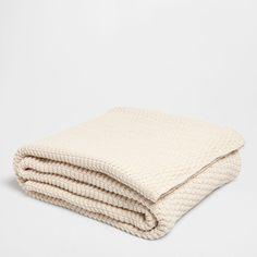 Cotton Knit Throw