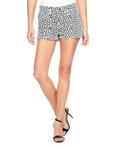 PRINTED DENIM HIGH RISE SHORT - Juicy Couture