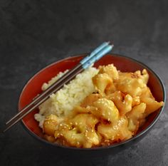 Vegan Cauliflower Sesame Orange Chicken - Low Fat! - Potassium Rich Recipe - Rich Bitch Cooking Blog