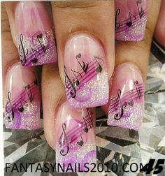 Music notes nails | Musical nails | Fabulous Nail Art Design 2012