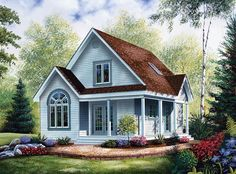 House Plan 64983 | Cabin   Country    Plan with 1168 Sq. Ft., 2 Bedrooms, 2 Bathrooms