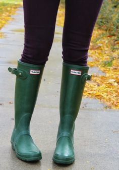 Hunter Boots in Hunter green