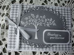 Sympathy Card Thinking of you Sorry for your loss by CardsbyEileen