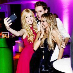 Kat/Clary, Dom/Jace and Dom's beautiful girlfriend Sarah xx