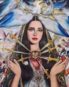 Lana Del Rey by Reham Abdul Hamid Musik Illustration, Requiem For A Dream, Our Lady Of Sorrows, Lana Del Ray, Lana Del Rey Love, Arte Obscura, Photo Portrait, Music Artwork, Tumblr