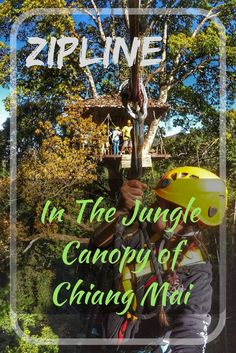 Zipline in the jungle canopy of Chiang Mai, Thailand with Flight Of The Gibbon. A treetop adventure in the jungle you won't forget! Have a delicious lunch and visit the waterfall after ziplining. http://togetherinthailand.com/zipline-chiang-mai-flight-of-the-gibbon/