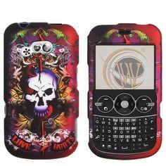 For LG 900g Skull Design Rubberized Skin Hard Case Cover