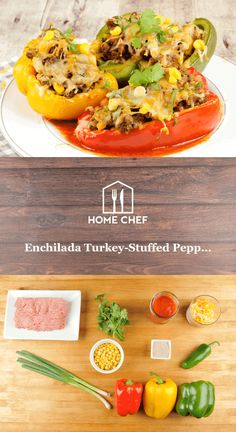 Love Mexican food, but keeping it low-carb? Look no further than this trio of enchilada-seasoned, vegetable-studded, lean ground turkey-stuffed bell peppers. Corn kernels provide a sweet crispy pop, jalapeño brings the heat, and a cap of melted cheese unite for an indulgent yet healthy meal that's a feast for the eyes and the stomach.