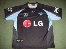 Cronulla Sutherland Sharks 2009 Adults Large Rugby League Shirt NRL Australia