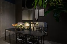 Architecture office Storage Associati designed Potafiori, a restaurant and a flower shop located in Milan, Italy and completed in Read More… Flower Shop Design, Floral Design, Milan Design Week 2017, Cafe Concept, Dinning Table, Outdoor Settings, Shop Interiors, Magazine Design, Dining
