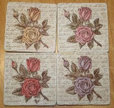 Paisley Scraps: Tumbled Tile Coasters Oh my, these tiles are so awesome and seem easy to make.