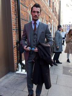 David Gandy Looks Handsome At London Collection Mens Fashion Week