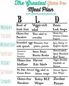 The Greatest Gluten Free Meal Plan EVER! Such an easy way to get started meal planning with all things #glutenfree #mealplanning