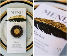 art deco wedding inspiration - reception accessories