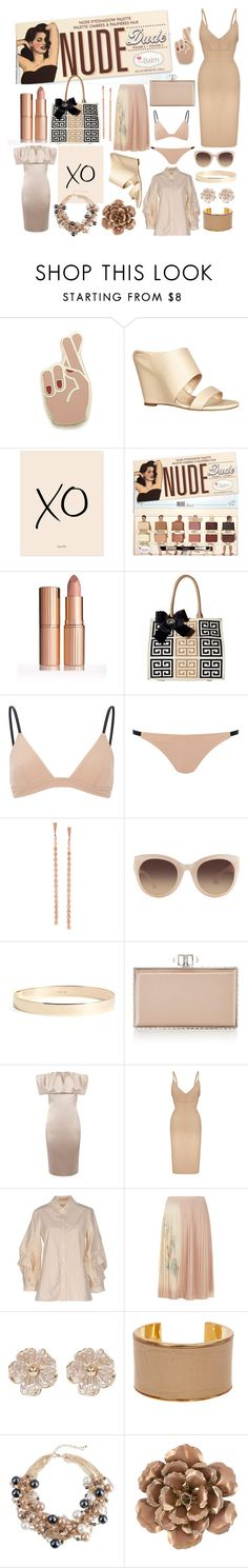 """Almost as Sexy as the Real Thing"" by nicole-trail ❤ liked on Polyvore featuring Georgia Perry, Dee Keller, xO Design, My Flat In London, Lana, Linda Farrow, Lana Jewelry, Judith Leiber, Karen Millen and Roland Mouret"