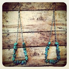 Rebel Rock Earrings in Turquoise by DistractedRenegade on Etsy, $22.94