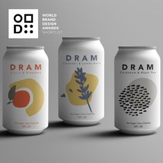 drink design World Brand Design Awards - Shortlisted Winner - In-house Design Team: Dram Apothecary - Project: Label Design for Sparkling CBD and Herbal Waters Juice Packaging, Beverage Packaging, Bottle Packaging, Brand Packaging, Design Packaging, Coffee Packaging, Vintage Poster, Opus, Brand Identity Design