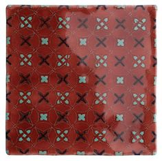Decorated & Hand Painted tiles from The Winchester Tile Company Tile Patterns, Textures Patterns, Architecture Unique, Red Tiles, Handmade Tiles, Handmade Ceramic, Glazed Tiles, Tile Murals, Wall And Floor Tiles