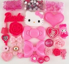 USA DIY Hello Kitty Bling Phone Case Flatback Cabochons Kawaii Deco Kit Set 212