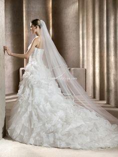 PRONOVIAS Blanca Talla 4 - De noviaa novia #vestidodenovia #vestidodenoviausado #denoviaanovia