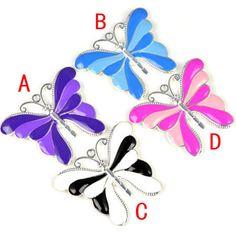 4PCS/LOT, Fashion Jewellery Accessories Butterfly Pendant, 1pc each color PT-646