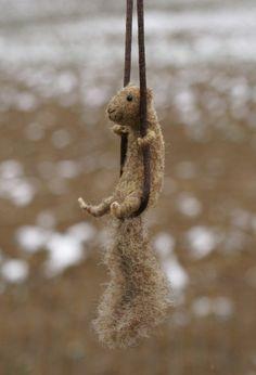 Tiny squirrel necklace.