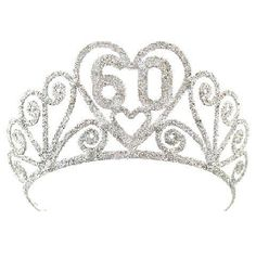 A 60th Birthday Gift for Mom: 60th Birthday Sparkling Silver Tiara @ Amazon More
