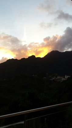morning with a beautyful sun coming over the mountain in Boaventura