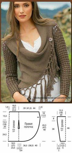 Cruzado Knit bolero pattern
