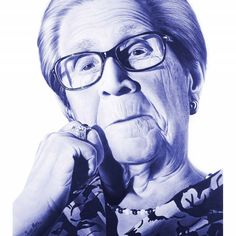 "Mi preferida ""My grandmother"" Ballpoint Pen Art, Pen Drawings, Portrait Art, Portraits, Biro, Sleeve Tattoos, My Eyes, Toll, Manga"