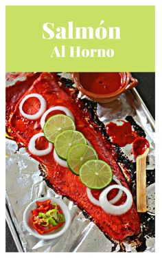 How to make Roasted Salmon This is not a traditional Mexican recipe but still very delicious and unique! Perfect to celebrate any occasion. Salmon Recipes, Seafood Recipes, Mexican Food Recipes, Vegetarian Recipes, Mexican Seafood, Mexican Dishes, Mexican Potluck, Traditional Mexican Food, Good Food