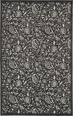 Black 5' x 8' Transitional Indoor/Outdoor Rug | Area Rugs | eSaleRugs