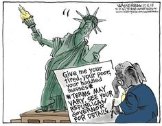 The GOP amends the Statue of Liberty against Syrian refugees